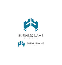 letter h business logo vector image