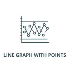 line graph with points line icon linear vector image