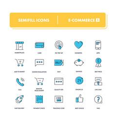 line icons set e-commerce 2 vector image
