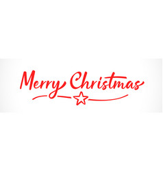 merry christmas lettering inscription vector image