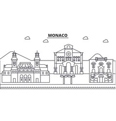 Monaco architecture line skyline vector