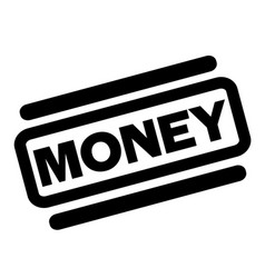 Money black stamp vector