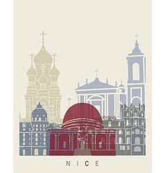 Nice skyline poster vector image