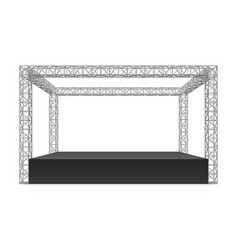 outdoor festival stage truss system vector image