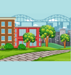 outdoor urban landscape scene vector image