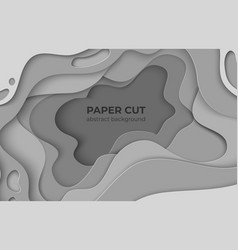 paper cut background 3d minimal white papercut vector image