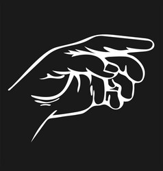 Pencil drawing of hand vector