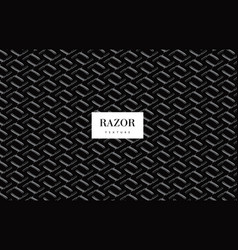 Razor blade pattern vector