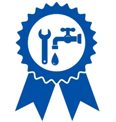 Round icon with plumbing wrench vector