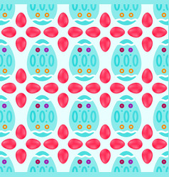 Seamless pattern of watery easter eggs with vector