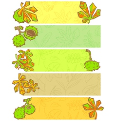Season banners vector