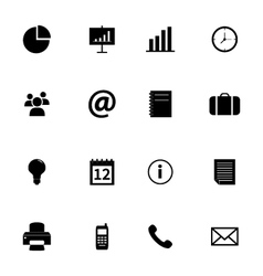 set flat icons - office and business vector image