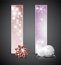 Set of christmas cards or banners vector image