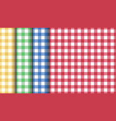 set seamless tablecloth textures red green vector image