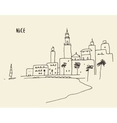Sketch Nice view hand drawn vector image