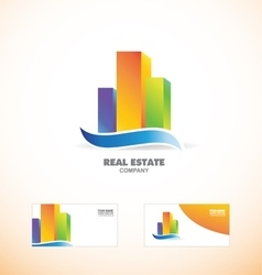 Skycraper real estate building logo icon vector