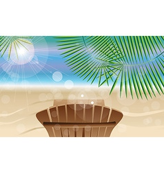 Summer holiday card with beautiful sunny beach vector image