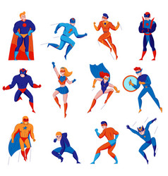 Superhero character set vector