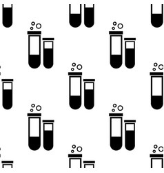 test-tube on white background seamless pattern vector image