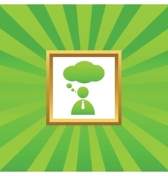 Thinking person picture icon vector image