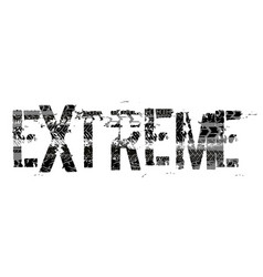 Tire extreme lettering vector