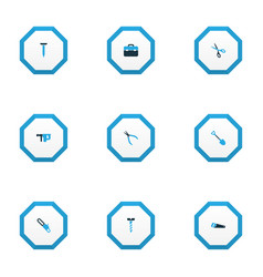 tools icons colored set with electric instrument vector image