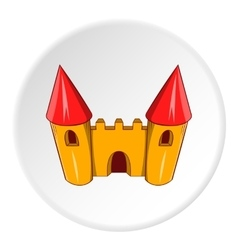Toy castle icon cartoon style vector