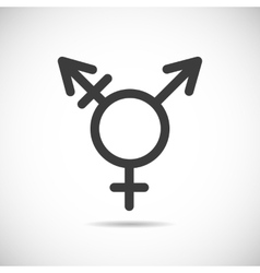 Transgender symbol icon vector image