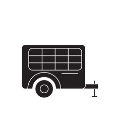 trolley cart black concept icon trolley vector image