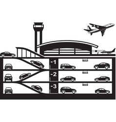 underground parking at airport vector image