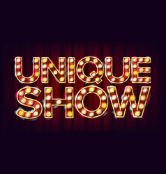 unique show banner sign for traditional vector image