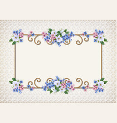 vintage decorative background vector image