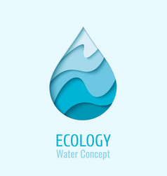 water drop ecology logo design template vector image
