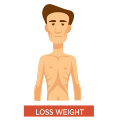 Weight loss tuberculosis symptom man vector