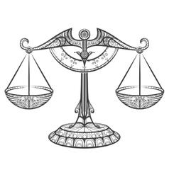 Zodiac libra drawn in entangle style vector