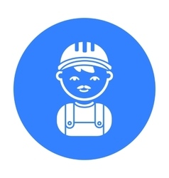 Builder black icon for web and vector image vector image