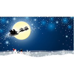 christmas design of santa claus and reindeer vector image vector image