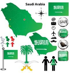 Saudi Arabia map vector image