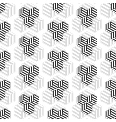 Seamless pattern with cubes Repeating modern vector image