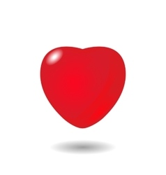 volumetric red heart vector image vector image