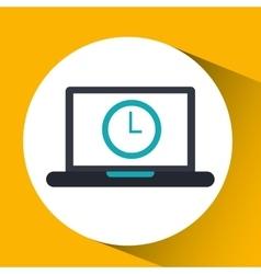 Cloud computing clock social media virtual icon vector