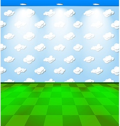 Eco room with clouds vector image