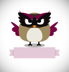 Hipster Owl greeting card design vector image vector image