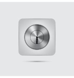 Metal door lock Isolated vector image