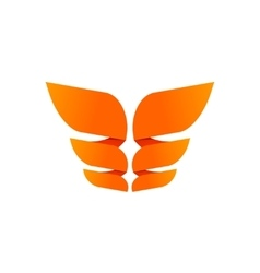 Orange butterfly logo template isolated creative vector