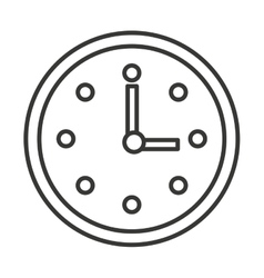 time clock isolated icon design vector image