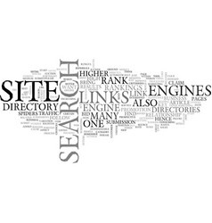 why should you link to directories text word vector image