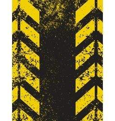 worn hazard stripes texture vector image vector image