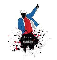 Artistic rapper vector image vector image