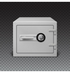Icon metal box on transparent background Safe vector image